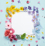 Creative layout with flowers