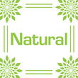 Natural Green Leaves Circular Frame