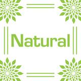 Natural Green Leaves Circular Frame  - 214917281