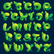 Alphabet ecology letters from a twisted green leawes.