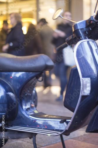 Plexiglas Scooter Scooter motorbike in street