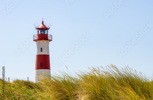 Canvas Vuurtoren Beautiful Lighthouse List-Ost - A Lighthouse on the island Sylt