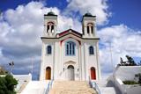 Cathedral of Naoussa town, Paros Island, Cyclades, Greece - 214923287