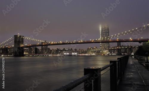 Plexiglas Brooklyn Bridge New York, ponte di Brooklyn