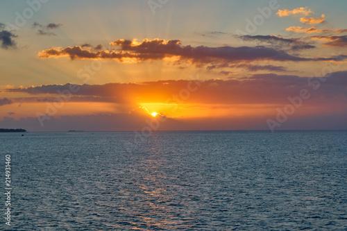 Foto Spatwand Strand Sunset Beach View