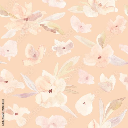 Cotton fabric Flower seamless pattern.