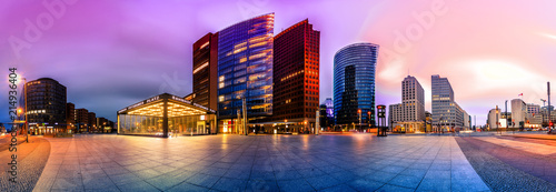 Leinwanddruck Bild The Potsdammer Platz in Berlin, Germany
