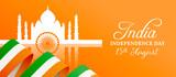 India Independence Day Taj Mahal flag web banner
