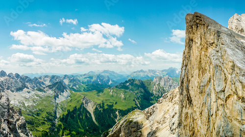 Fotobehang Pool Panoramic view from the top of the Marmolada Glacier . Dolomites. South Tyrol. Italy. Beautiful view over the Marmolada glacier. Mountain landscape in Alps Dolomites Italy South Tirol
