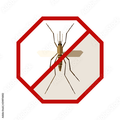 Flat geometric sign with Mosquito - 214976002