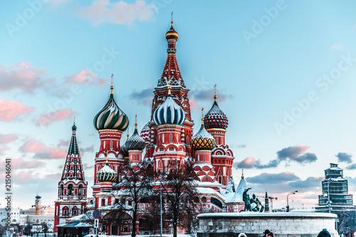 In de dag Moskou St. Basil's Cathedral Exterior c.1561