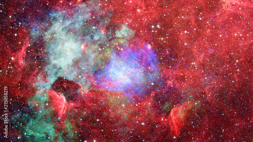 Nebula and stars in outer space. Elements of this image furnished by NASA. - 215058219