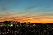 東京・新宿の夜景と富士山