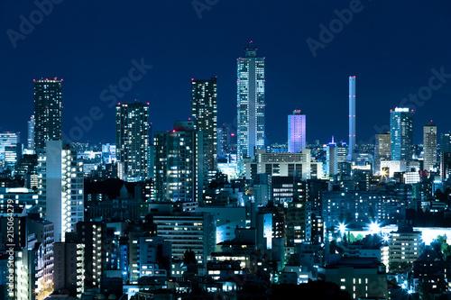 Fotobehang Tokio 東京・池袋の夜景