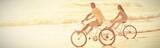 Happy couple on a bike ride - 215078608