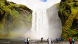 Cascada de Skogafoss, la cascada más grande de Skogar, Islandia