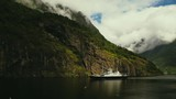 Beautiful Fjord Norway. Summertime in one of the must beautiful fjords in the world. Kodak LUT - 215096236
