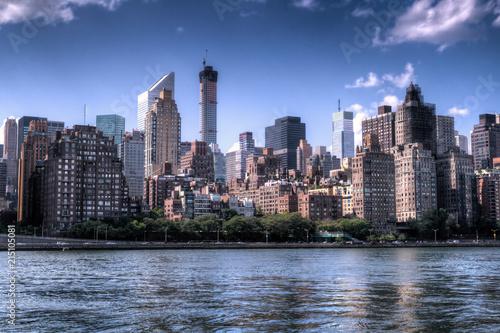 Aluminium New York New york city skyline of midtown Manhattan.
