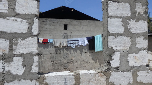 In de dag Zanzibar lokales Haus auf Sansibar-Afrika
