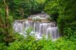 Leinwanddruck Bild - Beautiful waterfall in deep forest, Huay Mae Kamin Waterfall in Kanchanaburi Province, Thailand