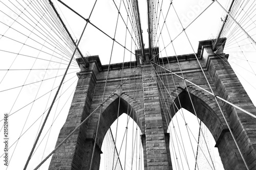 In de dag Brooklyn Bridge Black and White Abstract
