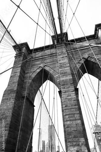 Plexiglas Brooklyn Bridge Black and White Abstract