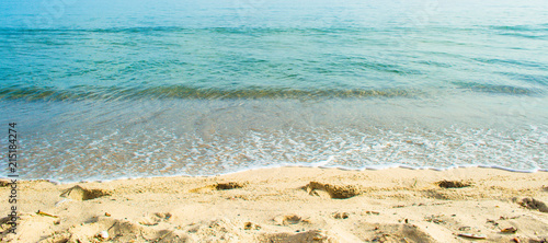crystal clear water on the beach - 215184274