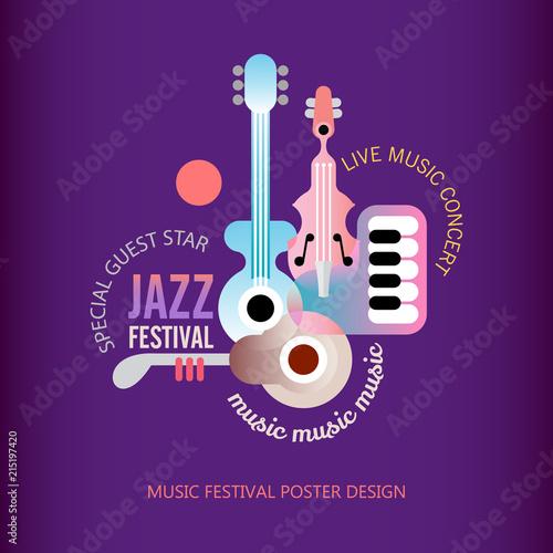 In de dag Abstractie Art Jazz Festival poster design