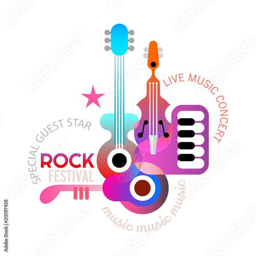 In de dag Abstractie Art Rock Music Festival poster