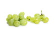 Leinwandbild Motiv White grapes isolated on white background