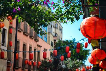 Decoración en el barrio chino