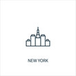 New York concept line icon. Simple element illustration