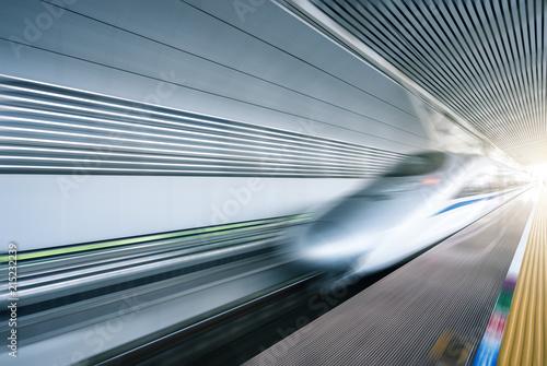 high speed train via station