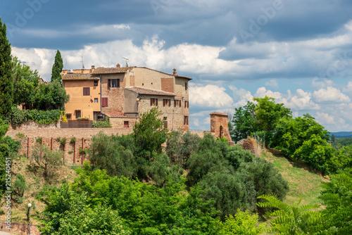 Canvas Toscane Birth village of Giovanni Boccaccio, author of Decameron