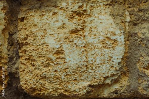 Aluminium Stenen cliff of the brown clay