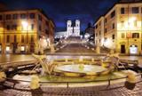 Piazza di Spagna, Barcaccia fountain, Spanish Steps, Rome