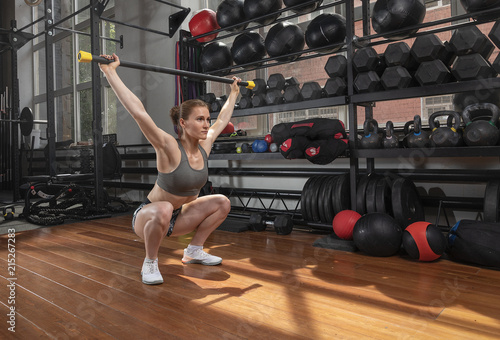 Poster gym hard training woman