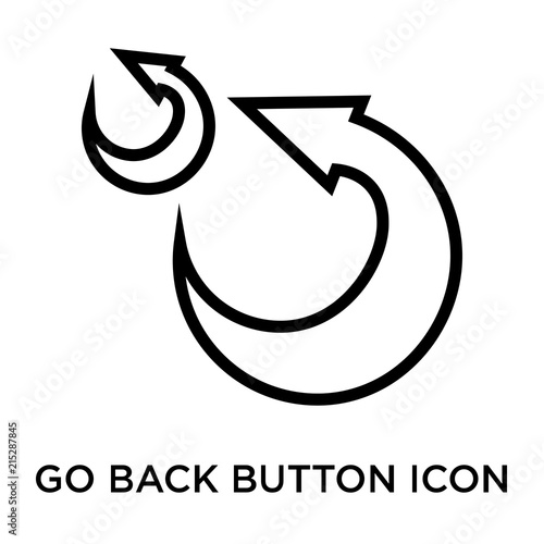 Go Back Button Icon Vector Sign And Symbol Isolated On White Background