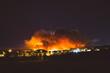 California wildfire burns at night
