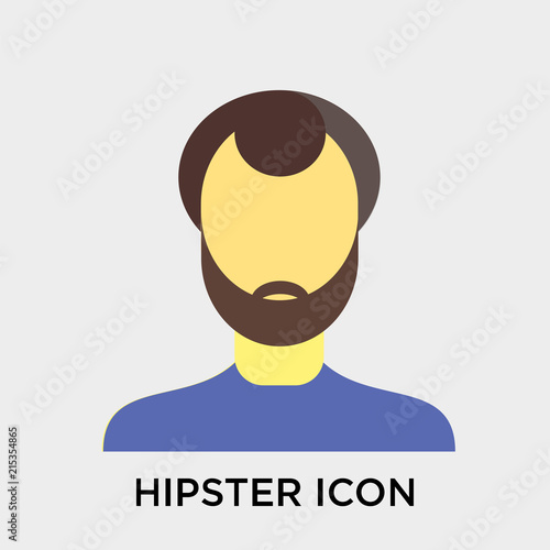 In de dag Hipster Hert Hipster icon vector sign and symbol isolated on white background, Hipster logo concept