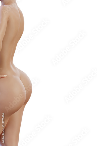 © PixlMakr - Fotolia.com Sexy woman's back with curvy sensual buttocks on white background
