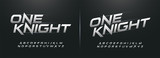 sport modern alphabet fonts. technology typography italic font uppercase. vector illustrator