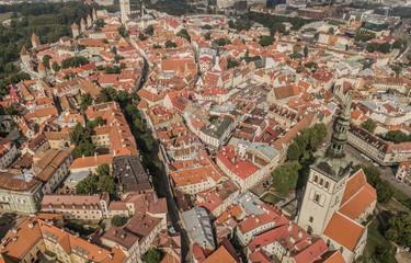 Aerial view of Tallinn city