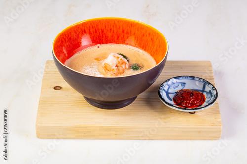 Laksa soup with prawn