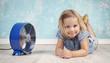 Leinwandbild Motiv Abkühlung bei der Hitzewelle