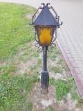 Old street light. Vintage street light. in the park