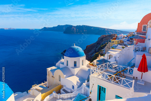 Santorini island, Greece - 215393203