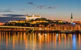 Bratislava bei Sonnenuntergang