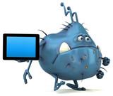 Fun germ - 3D Illustration - 215400842