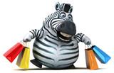 Fun zebra - 3D Illustration - 215402457